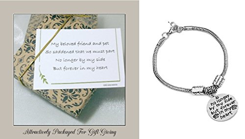 Memorial Gift for Loss of Pet No Longer by My Side But Forever in My Heart Bracelet