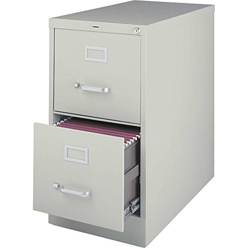 Lorell 2-Drawer Vertical File, 15 by 22 by 28, Light Gray by Lorell