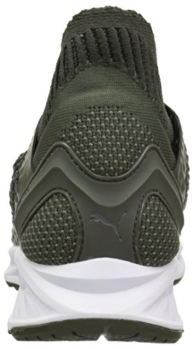 ... PUMA Herren Ignite Netfit Cross-Trainer-Schuhe Forest Night-Castor Grau  ...