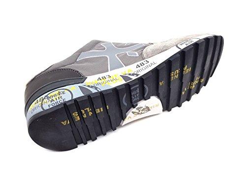 PREMIATA Zapatillas de Piel Para Hombre Gris Gris