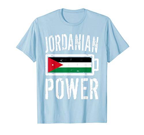 Jordan Flag T-Shirt | Jordanian Power Battery Proud Tee