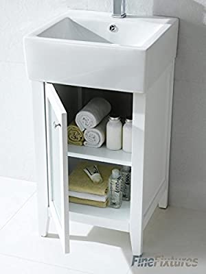 "Finefixtures Bathroom Vanity Set - Ravenna- 17"" White"