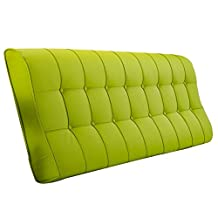 FLY Double Bed Cushion Continental Soft Pack Pillow with Large Backrest (with Or Without Headboard Occhiali a Doppio tubo (Color : Green, Size : 150x12x60cm)