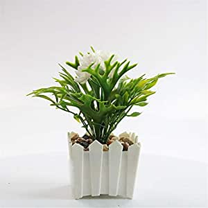 Simulation small bonsai plastic fake flower pots living room bookcase decoration ornaments green plants