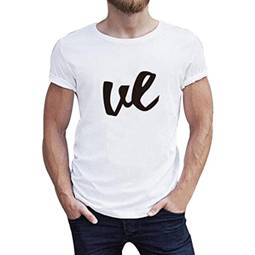 Elevin(TM)Family Look Clothes Mon Dad Baby Printing Short Sleeve Blouse T-Shirt Romper (M, Men)
