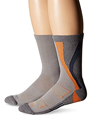 Men's 2 Pack Swirl Performance Crew Socks