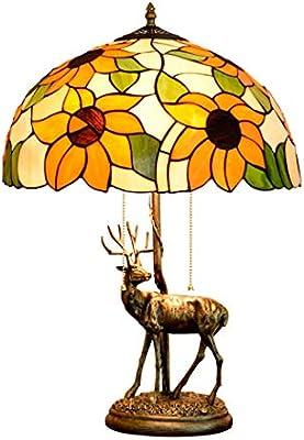 Lámpara de mesa estilo vitral estilo Tiffany Lámpara de acento de ...