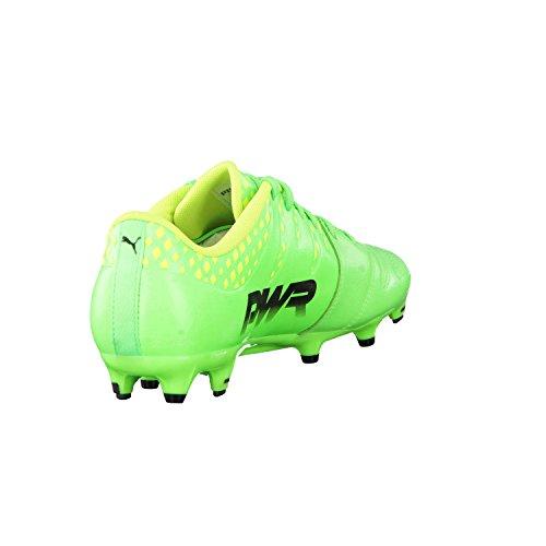 Puma Evopower Vigor 3 Lth Fg, Botas de Fútbol para Hombre Green Gecko-Puma Black-Safety Yellow