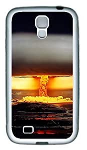 Samsung Galaxy I9500 Case and Cover - Nuclear Explosion Custom PC Soft Case Cover Protector for Samsung Galaxy S4/I9500 White