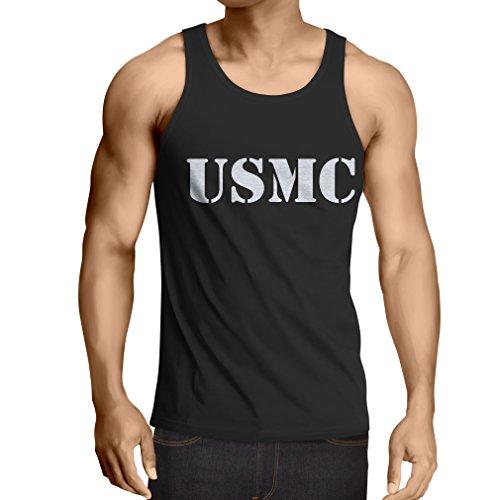 lepni.me N4446V Vest USMC (Small Black White) (Homeland Security Uniform)