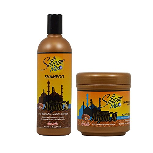 Silicon Mix Moroccan Argan Oil Shampoo + Hair Treatment 16oz
