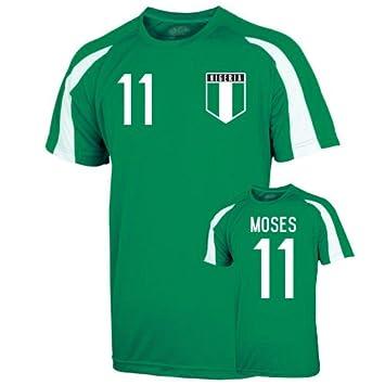 4c4946a2543 UKSoccershop Nigeria Sports Training Jersey (moses 11)  Amazon.co.uk  Sports    Outdoors