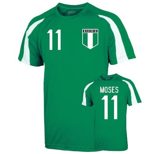 Nigeria Sports Training Jersey (moses 11) B076D8TPG8Green XXL (50-52\
