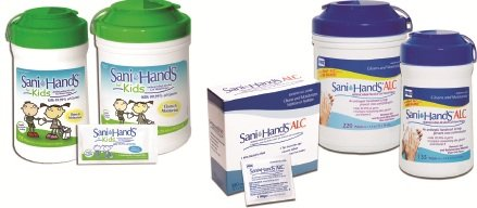 Sani-Hands® ALC Sanitizing Skin Wipe 6 X 7-1/2 Inch Canister Alcohol - CS/1620