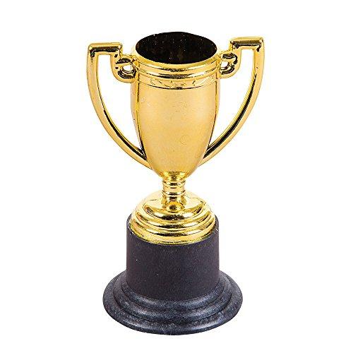 Gold Tone Plastic Trophy Pieces