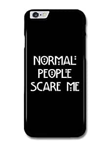 Diy Yourself American Horror Story Murder House Normal People Scare Me Evan Peters Emma Roberts Quote case cover for owgtbJpCzFD iphone 4 4s