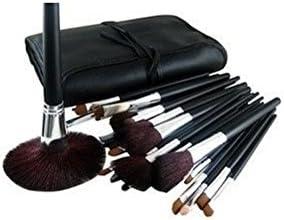 set de 34 piezas de lujo de cosmética profesional pinceles de maquillaje con bolsa by RIVENBERT: Amazon.es: Belleza