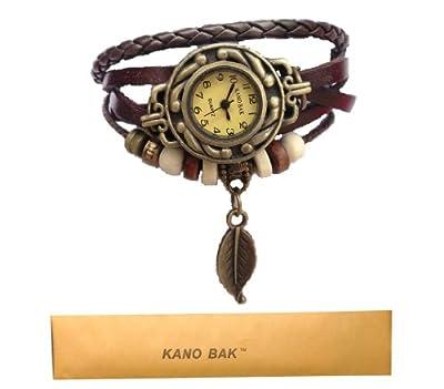 Fashion Weave Wrap Around Leather Bracelet Lady Women Wrist Watch