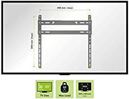 Black AVF EL400B-A Flat to Wall TV Mount for 25 to 40-Inch Screen