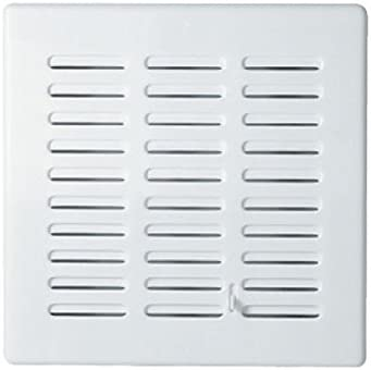 White Air Vent Grille 165mm x 165mm with Adjustable Shutter Ducting Ventilation Cover Duct Grid T04