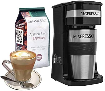 Ultimate 2-In-1 Single Cup Coffee Maker 14oz Travel Mug Combo Portable Lightweight Personal Drip Coffee Brewer Tumbler Advanced Auto Shut Off Function Reusable Eco-Friendly Filter