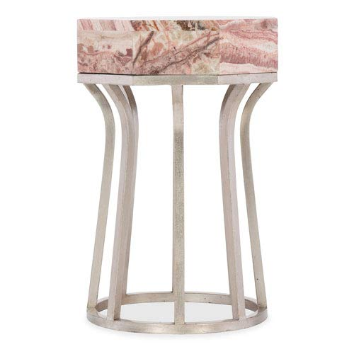 Hooker Furniture Melange Mary Onyx Top End Table in Matte Silver by Hooker Furniture