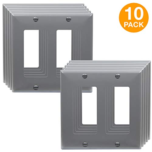 ENERLITES Decorator Wall Plate, Light Switch or Receptacle Outlet Cover, Size 2-Gang 4.50