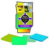 Post-it® Super Sticky Full Adhesive Notes, 3-Inch x 3-Inch, Bora Bora Collection,  25 sheets per pad, 4 pads per pack, (F330-4SSFM-C)
