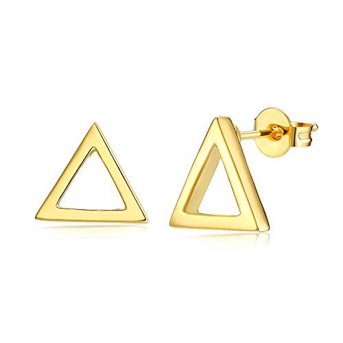 Triangle Stud Earring Geometry For Women Girl Birthday Christmas Wedding Gift Halloween