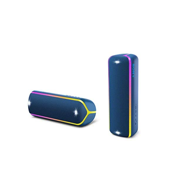Sony SRS-XB32 Enceinte Portable Bluetooth Extra Bass Waterproof avec Lumières - Bleu 6