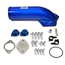 CNS EGR-DK-800 EGR Valve Cooler Delete Kit with Intake Elbow + Silicone Sealant for 04-10 Ford F-Series Super Duty 6.4L (391ci) OHV V8 PowerStroke Diesel Turbo by CNS EngineParts
