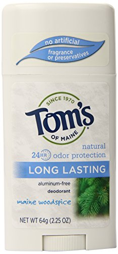 Tom's of Maine Natural Deodorant Stick, Aluminum Free, Long Lasting, Maine Woodspice, 2.25 Ounce