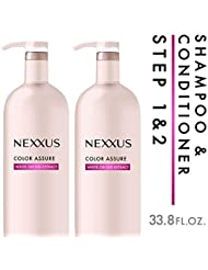 Nexxus Color Assure System, for Color Treated Hair, 33.8 oz, 2 count
