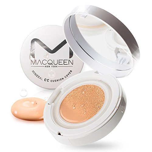 MACQUEEN Mineral CC Cushion UV Protection SPF50 PA+++ (+ refill 13g)No.21 Clear Light Beige (with mask sheet) by Macqueen