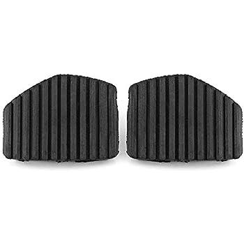 Keenso 2Pcs Brake & Clutch Pedal Pad Rubber Cover For Peugeot/Citroen 1007 207 208 301 C3 C4 C5 C6 C8