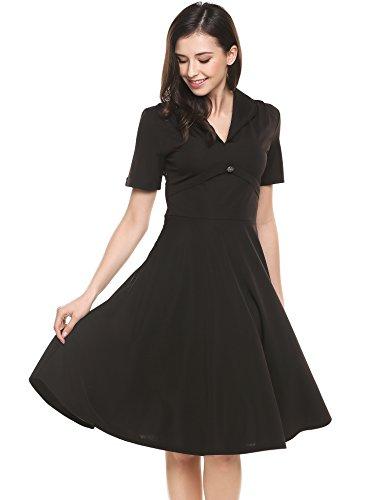 Buy black 40s dress - 7