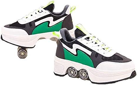 SHOE Roller Niños Zapatos del Patín con Ruedas, Deporte Zapatilla ...
