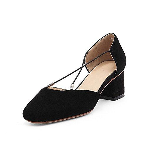 Compensées Noir Sandales 36 EYR00303 5 Femme Aimint Noir EUaz1qfw