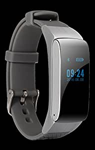 CCLOON 2017 Newest Multifunctional Bluetooth Smart pedometer Bracelet , Adjustable buckle, touching screen watch (Silver Grey)