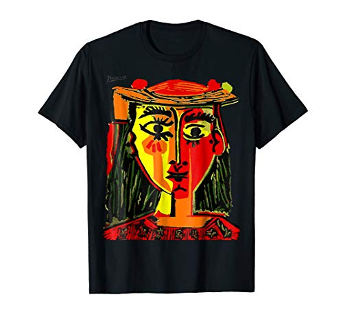 Pablo Picasso Woman In Red With A Hat 1962 T Shirt, Artwork