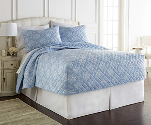 Thermee Micro Flannel Blanket, Toile Sky Blue, - Flannel Toile