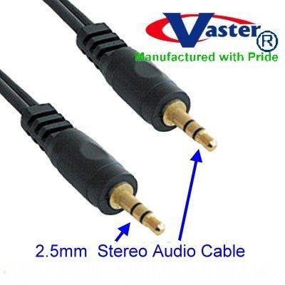 Vaster Cable 24k 2.5mm Stereo Audio Cable 3ft
