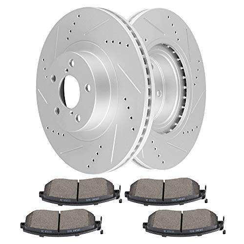 (cciyu Front Premium Brake Rotors + Ceramic Brake Pads fit for 13-16 FR-S/BRZ,10-17 Subaru Forester,11-14 Impreza,13-14 Legacy/Outback,13-15 XV Crosstrek,17 Toyota 86)