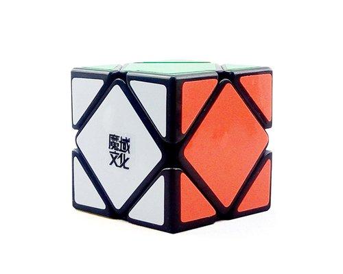 MoYu Skewb 3x3x3 Stickers Professional Brain Teaser Twisty Puzzle Skewb Speed Magic Cube - Black