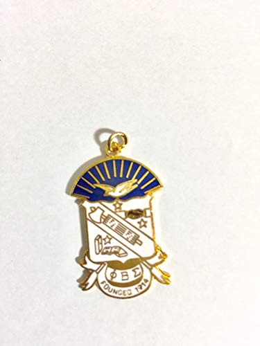 Phi Beta Sigma Fraternity Shield Gold Charm Pendant For Greek Jewelry Accessories