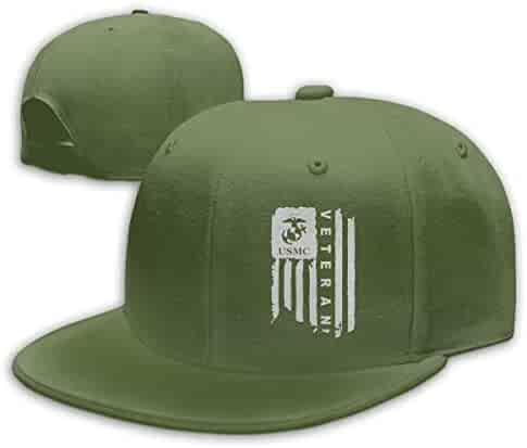 473affeb944646 YAkjfdivn Marine Corps USMC Distressed American Flag Baseball Cap Snapback  Hip Hop Hat for Men &