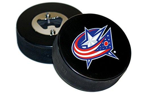 fan products of Columbus Blue Jackets Basic Logo Hockey NHL Puck Bottle Opener