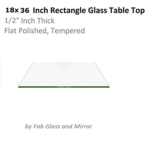 Fab Glass and Mirror T-18x36REC12THFLTE 18x36 Inch Clear Rectangle 1/2