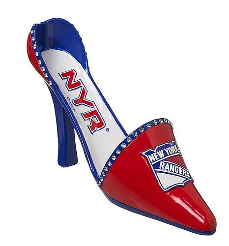 New York Rangers Decorative Wine Bottle Holder - Shoe - Licensed NHL Hockey Gift from Sports Collectibles