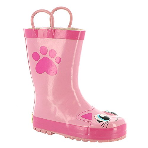 Western Chief Infant/Toddler Girls' Pink Kitty Rain Boot,Pink,US 8 ()
